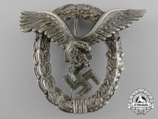 An Early Luftwaffe Pilot's Badge by Gebrüder Wegerhoff of Lüdenscheid