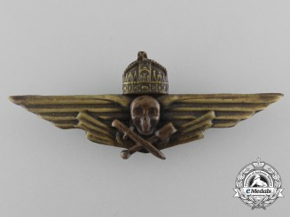 A Scarce Second War Hungarian Storm Trooper's Breast Badge