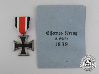 An Iron Cross 1939 Second Class with Packet of Issue