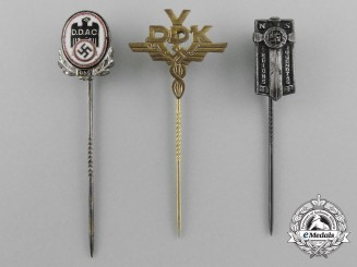 A Lot of Three Third Reich German Stick Pins