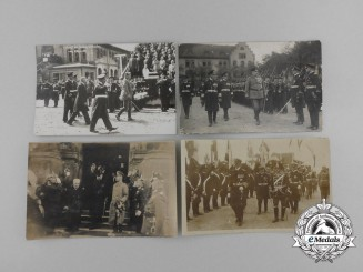 A Lot of Four First War German Picture Postcards; Three depicting President Hindenburg