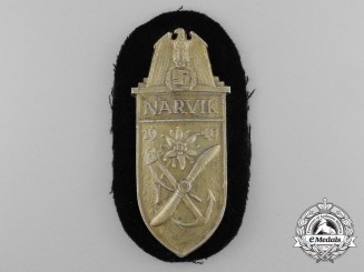 A Kriegsmarine Issued Narvik Campaign Shield