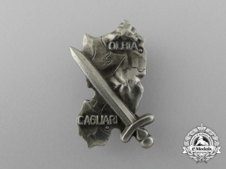 A Scarce 90th Panzer Grenadier Division Sardinia Shield Cap Badge