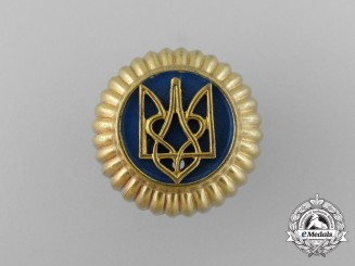 A Second War Ukrainian Auxiliary Police Cap Badge