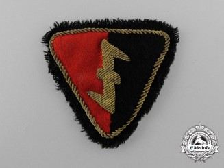 A Dutch NSB Officer's Tunic Sleeve Patch