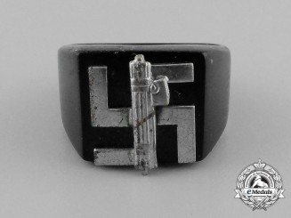 A Third Reich Period Italian-German Friendship Ring