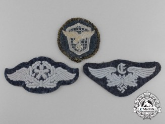 A Lot of Three Luftwaffe Personnel Trade Patches