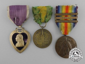 A Mexican Border & First War Purple Heart Group to Corporal Harold H. Gordon