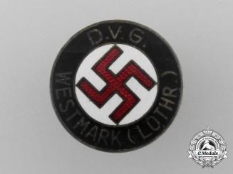 A Deutsche Volksgemeinschaft (DVG) Lothringen Identity Badge by W. Redo