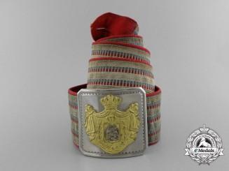 A Yugoslav Naval Officer's Belt and Buckle; Circa 1930