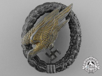 A Luftwaffe Fallschirmjäger Badge by Friedrich Linden Lüdenscheid