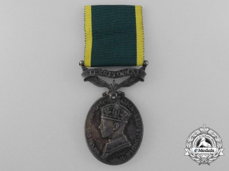 An Efficiency Medal to the Royal Engineers; Territorial Scroll
