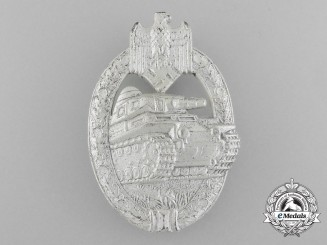 A Mint Silver Grade Panzer Assault Badge by AS