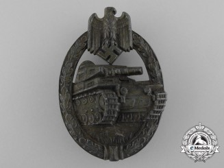 A Bronze Grade Panzer Assault Badge by Hermann Aurich