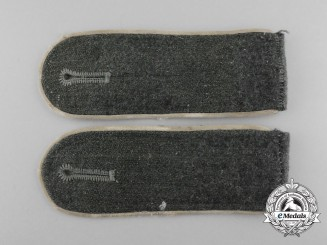 A Matching Set of Wehrmacht Infantry Unteroffizier/NCO's Shoulder Boards