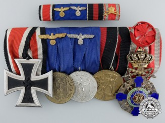 A Second War German & Romanian Medal Bar
