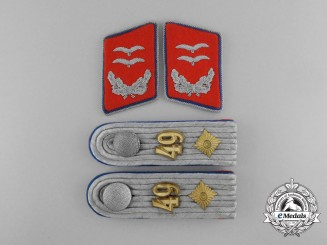 A Scarce Complete Set of Luftwaffe Insignia of an Oberleutnant Retired in the Flak Regiment No. 49
