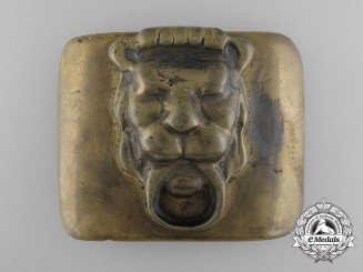 An Imperial Russian Lion's Head Belt Buckle