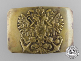A Russian Imperial Navy Enlisted Man's Belt Buckle