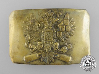A Russian Imperial Army Artilleryman's Belt Buckle