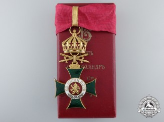 A Bulgarian Order of St. Alexander with Swords; Third Class with Case