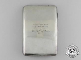 A First War Cigarette Case Named to Sergeant G.R. Clapman; The Buffs (East Kent Regiment) 1917