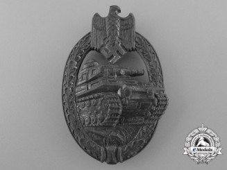 A Fine Silver Grade Tank Battle Badge by Adolf Scholze