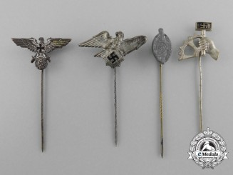 A Lot of Four Second War German Stick Pins