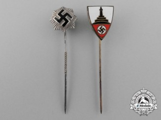 A Lot of Two Second War German Stick Pins