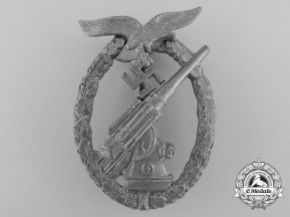 A German Flak Badge by E. F. Wiedmann