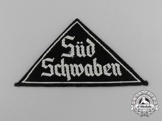 "A   BDM ""SÜD SCHWABEN"" District Sleeve Insignia"