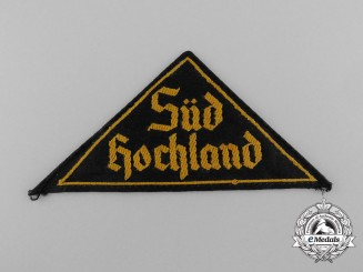 "An  HJ ""SÜD HOCHLAND"" District Sleeve Insignia"