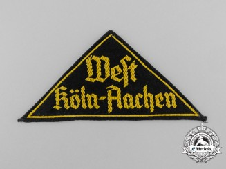 "An HJ ""WEST KÖLN-AACHEN"" District Sleeve Insignia"