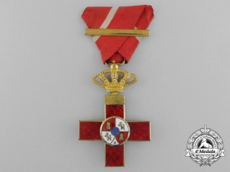 A Spanish Order of Military Merit; 1st Class Cross with Red Distinction (1889-1931)
