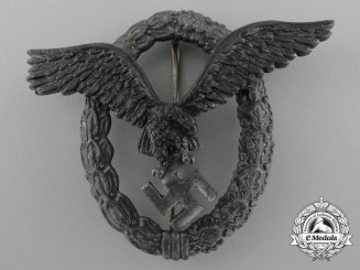 A Late War Luftwaffe Pilot's Badge by Assmann