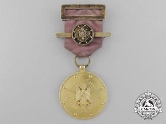 A Spanish Order of Cisneros; Gold Grade Medal