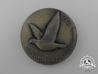 """A 1937 RDKl Reichs Mail Carrier Pigeon """"For Outstanding Aviation Performance"""" Medal"""