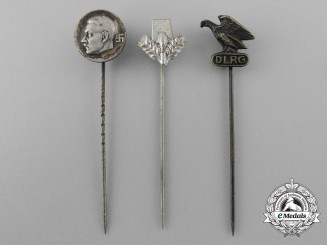 A Lot of Three Second War German Stick Pins