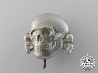 An Early Second Pattern (1934-1945) Waffen-SS Visor Skull