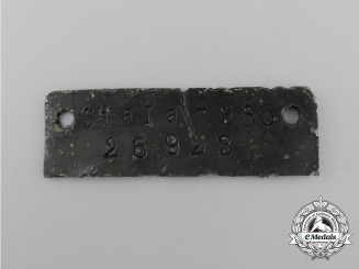 A German POW Camp ID Tag for Soldiers Housed at the Stalag 365 in Italy