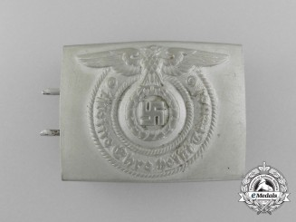 An Early Version Waffen-SS EM/NCO Belt Buckle by Overhoff & Cie