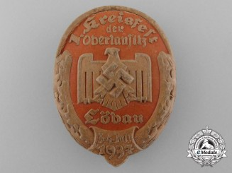 "Germany. A 1937 Löbau ""1st District Fest"" Badge"