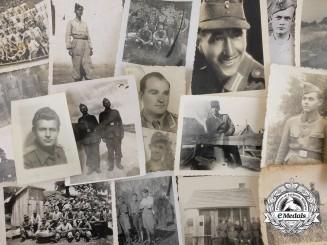A Lot of 20 Second War German and Croatian Photographs