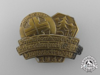 Germany. A 1937 Harrschsdorf Sudentengerman Skiing Championships Badge