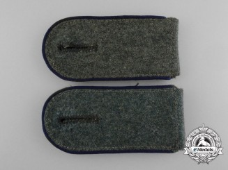 A Matching Pair of Wehrmacht Medical Enlisted Man's Shoulder Boards