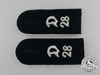 A Matching Pair of Wehrmacht Infantry Enlisted Man's Shoulder Boards
