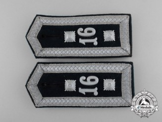 An Early Pair of Wehrmacht Sergeant Shoulder Boards