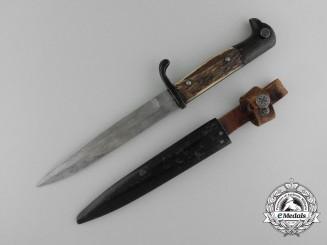 German Staghorn Grip Fighting Knife