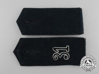 An Early Pair of Wehrmacht Engineer Shoulder Boards