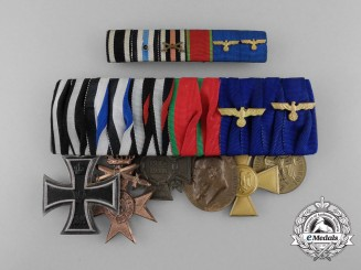 A First & Second War Wehrmacht Long Service Medal Bar